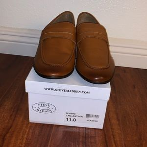 Steve Madden Men's Slash2 Tan Almond Loafers Shoes
